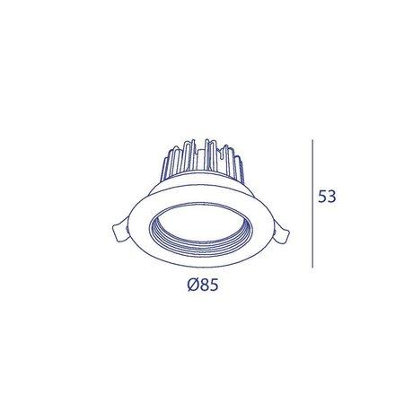 ORBIT COB LED Spot encastré Série 6038