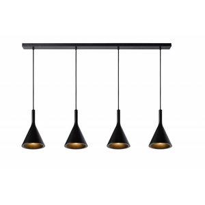 Lucide GIPSY - Pendant lamp - 4xE27 - Black - 35410/04/30