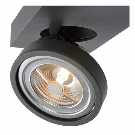 Lucide LED spotlamp Nenad Ar111 Donkergrijs 1-lichts 09920/10/36