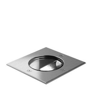 Wever & Ducré Spot au sol à LED CHART ASYM 1.6 INOX