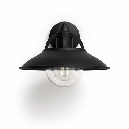 Philips Outdoor wall lamp MyGarden Cormorant Black
