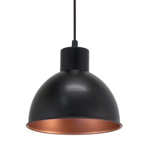 EGLO Hanging lamp TRURO 1 Black 49238