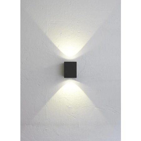 LED Wall light Outdoor CANTO KUBI black 10W