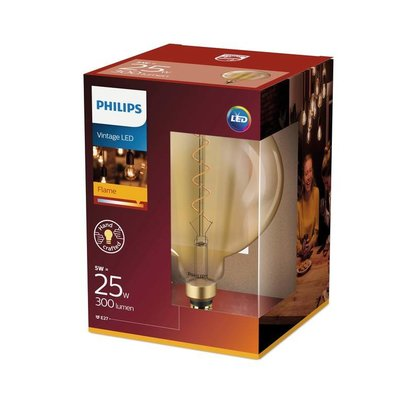 Philips E27 Filament LED Giant Globe Gold