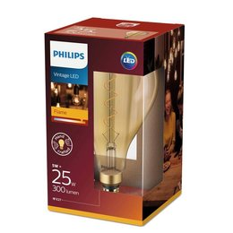 Philips E27 Filament LED bulb Giant Globe Splash Gold