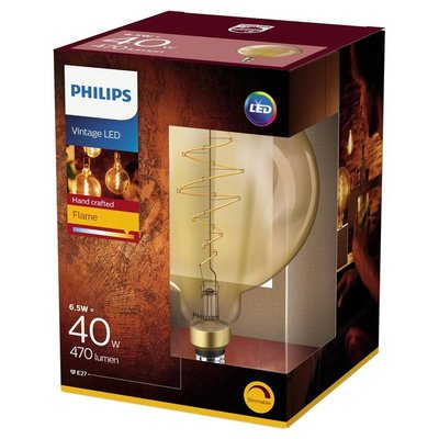 Philips E27 Filament LED lamp Giant Globe Goud DIM