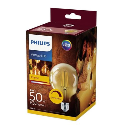 Philips E27 Retro Filament LED lamp G93 DIM 8-50W