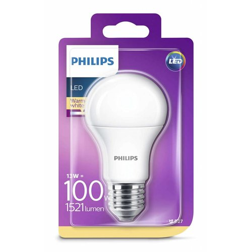 Philips LED lamp MAT E27 13-100W warm wit