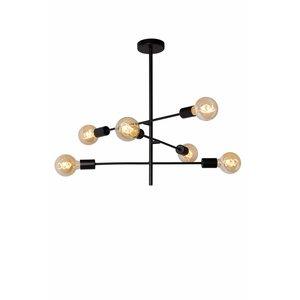 Lucide LESTER - Ceiling light - 6xE27 - Black - 21119/06/30