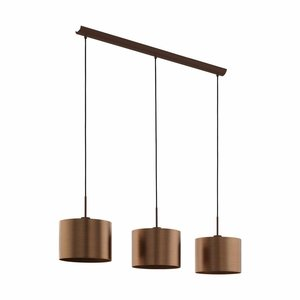 EGLO Hanglamp SAGANTO 39357 bruin/koper