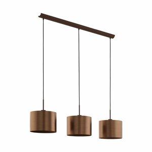 EGLO Hanglamp SAGANTO bruin/koper 39357