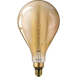 Philips E27 Filament LED bulb Giant Globe Gold DIM - Copy