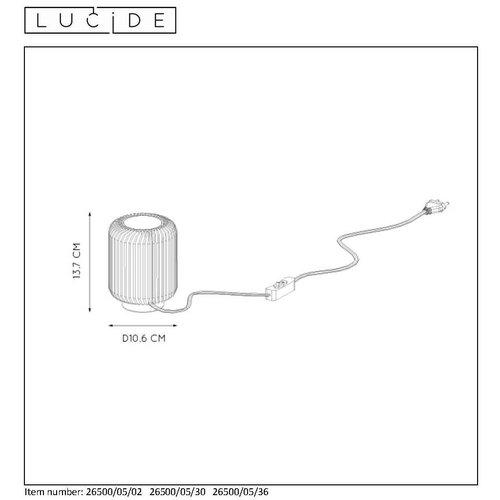 Lucide TURBIN - Tafellamp - Ø 10,6 cm - LED - 1x5W 3000K - Zwart - 26500/05/30