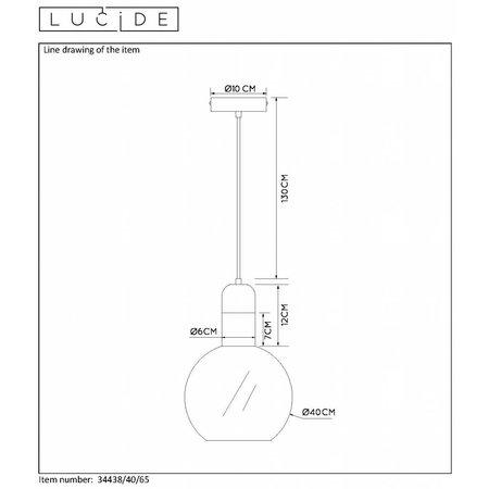 Lucide hanging lamp JULIUS 40cm fumé 34438/40/65