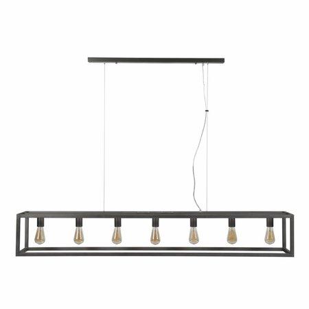LioLights Industriële hanglamp 7L metaal 170cm 7489