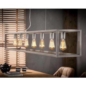 LioLights Industriële hanglamp 7L metaal 170cm