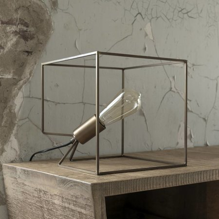 LioLights Lampe de table Cube bronze antique 8064