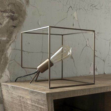 LioLights Tafellamp Cube brons antiek 8064