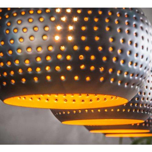 LioLights Vintage LED hanging lamp 4L punch cone black / brown