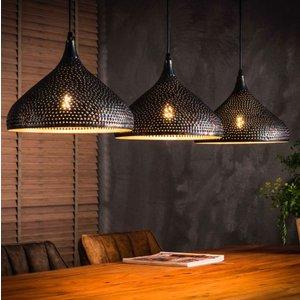 LioLights Vintage hanging lamp 3xØ32 punch funnel