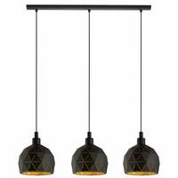 ROCCAFORTE hanglamp zwart/goud 97846