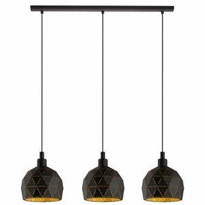 EGLO ROCCAFORTE hanglamp zwart/goud 97846