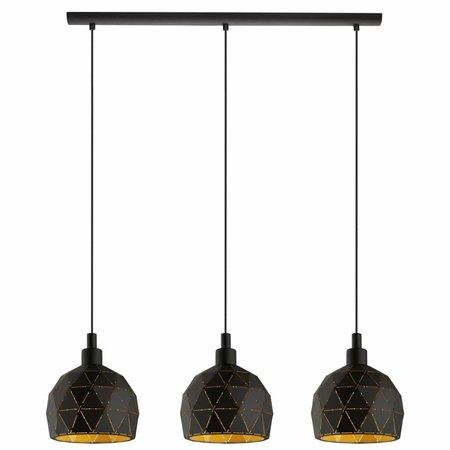 EGLO ROCCAFORTE hanging lamp black / gold 97846