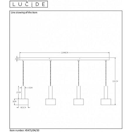 Lucide hanging lamp JULIUS 40cm fumé 34438/40/65 - Copy