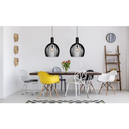 Lucide Hanging lamp Mikaela black Ø 50 cm 73400/01/30