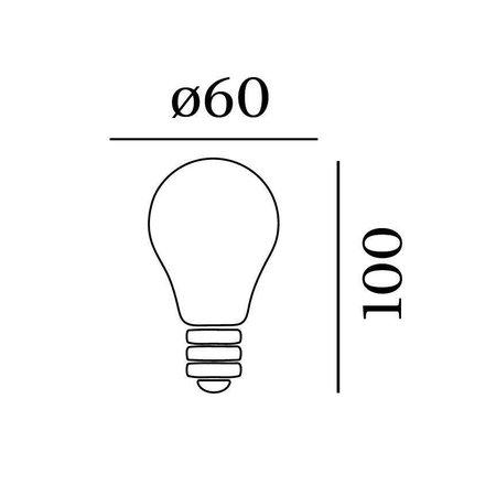 Wever & Ducré Mirro QA60 LED lamp E27 Zilver 6W