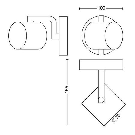 Philips LED wand/ Plafondspot myLiving Byrl