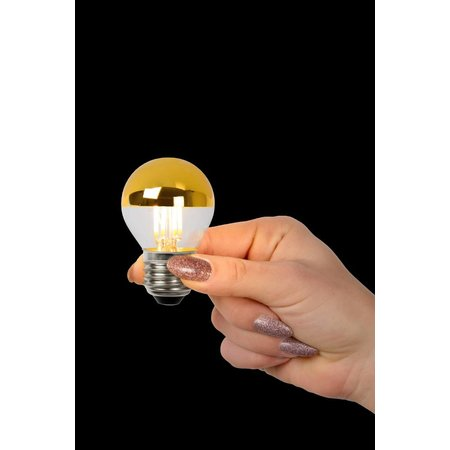 Lucide E27 LED filament lamp 4W DIM Goud