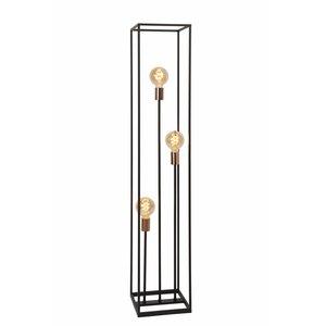 Lucide ARTHUR - Vloerlamp - 3xE27 - Zwart - 08724/03/30