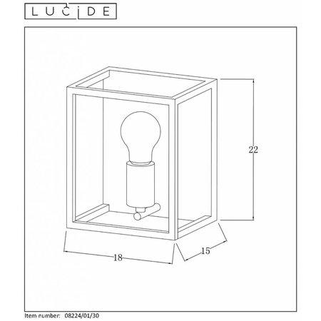 Lucide Wall lamp ARTHUR black 08224/01/30