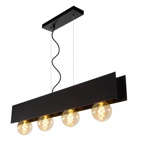 Lucide SURTUS - Hanglamp - E27 - Zwart 30474/04/30