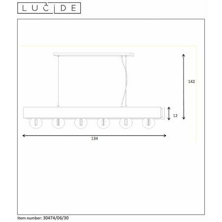 Lucide SURTUS - Suspension - E27 - Noir 30474/06/30