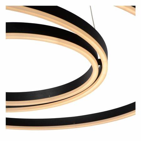 Lucide TRINITI - Hanglamp - LED Dimb. - 1x136W 3000K - Zwart 46402/99/30