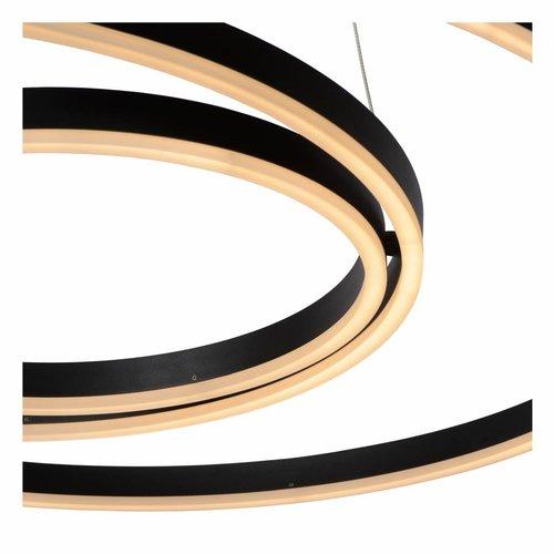 Lucide TRINITI - Hanging lamp - LED Dimb. - 1x136W 3000K - Black - 46402/99/30
