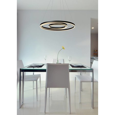 Lucide TRINITI - Hanging lamp - LED Dimb. - 1x136W 3000K - Black - 46402/99/30