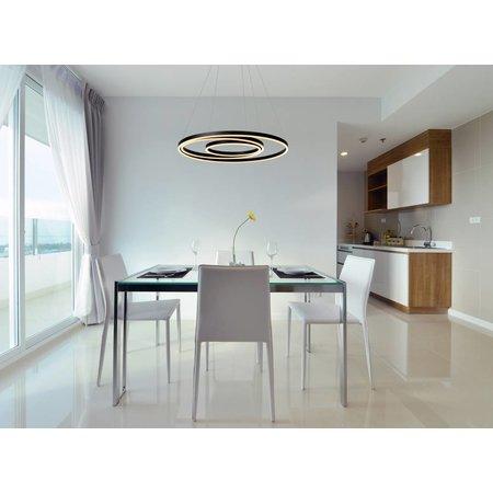 Lucide TRINITI - Hanglamp - LED Dimb. - 1x136W 3000K - Zwart - 46402/99/30