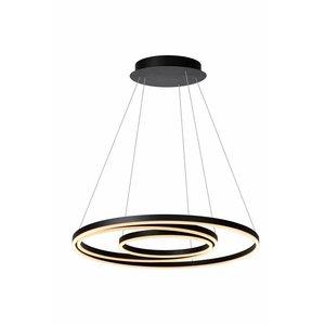 Lucide TRINITI - Hanglamp - Ø 80 cm - LED Afm. - 3000K - Zwart - 46402/99/30