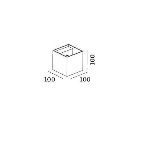 Wever & Ducré LED Wandlamp BOX 1.0 IP65 wit