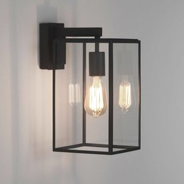 Astro LED Vintage Wall Light Box Lantern 450 Black texture