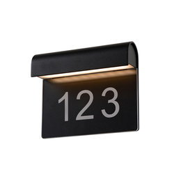 Lucide Wall light THESI Outdoor 6W IP54 black