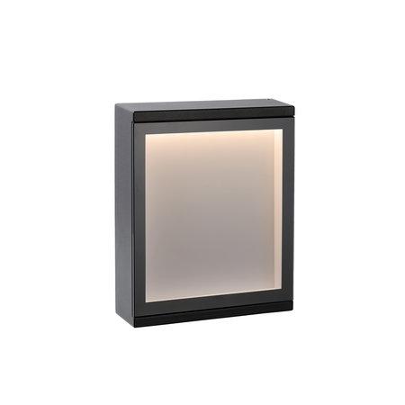 Lucide Wall light CADRA Outdoor 6W IP54 black