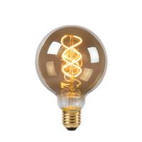 E27 Retro Filament LED Ø 9,5 cm - LED Dimb. - E27 - 1x5W 2200K - Fumé