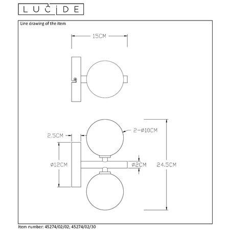 Lucide TYCHO - Wandlamp - G9