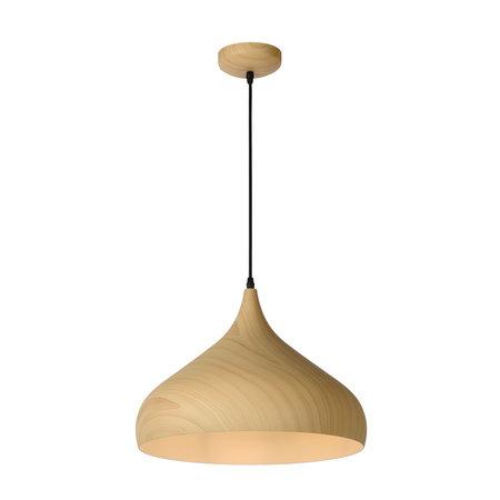 Lucide WOODY - Hanglamp - Ø 42 cm - E27 - Licht hout