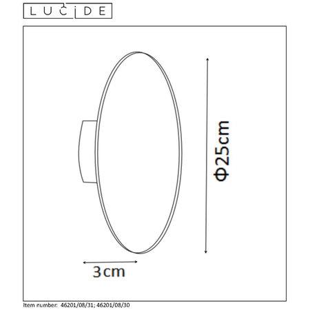 Lucide EKLYPS LED - Wandlamp - Ø 25 cm - LED - 1x8W 3000K
