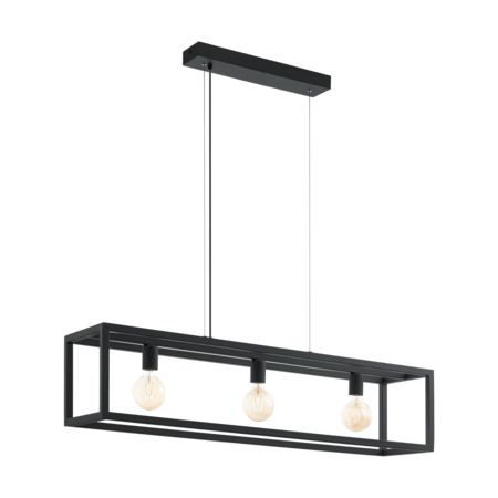 EGLO Elswick lampe à suspension noire 49564